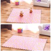 Gotd 30x30CM Mat Sunflower Living Room Bedroom Children Soft Patchwork Carpet Splice Baby Mat