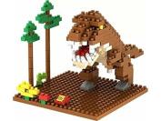 Little Treasures Loz diamond blocks Tyrannosaurus Dinosaur King series I-block fun compatible to Nanoblocks - smaller then Lego parts - great children's educational toy 190pcs new in original box