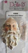 MANGELSEN'S Craft SET of 1 PORCELAIN SANTA Doll HEAD 10cm - 0.6cm (Pack SIZE 7.6cm - 1.3cm ) and PAIR of HANDS Each 5.1cm - 1.3cm Long w INSTRUCTIONS for WOODLAND SANTA