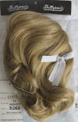 DOLLSPART Craft DOLL HAIR WIG Style #01077 Fits SIZE 41cm Colour HONEY BLONDE Synthetic JAPAN Fibre w WHITE Bow
