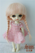 JD018 5-6inch(13-15cm) Mohair BJD doll wigs Double braid Anna toy wig