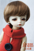 Jusuns D28053 1/6 YOSD Enfant Baby short BJD wig 6-7inch (15.5--17.5cm) Synthetc mohair doll wigs Brown colour