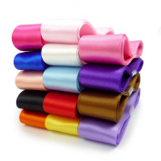 Smart Buy Satin Ribbon for Craft 2.2cm Wide Mixed Colours 14 Yards Contains 14 Different 1 Yard Ribbon