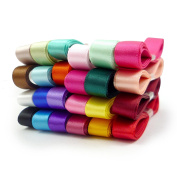 Smart Buy Satin Ribbon for Craft 1cm Wide Mixed Colours 24 Yards Contains 24 Different 1 Yard Ribbon