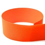 USA Made 1cm Orange Solid Grosgrain Ribbon - 20 Yards -