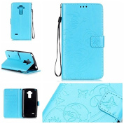 LG G Stylo Case, ARSUE Premium Vintage Emboss Butterfly Flower PU Leather Wallet Case with Card Slots & Stand Flip Cover for LG G Stylo/LG G4 Stylus/ LG LS770,