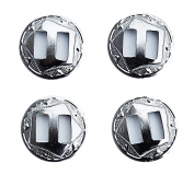 4pcs WESTERN SADDLE BRIGHT SILVER SLOTTED CONCHO 2.5cm