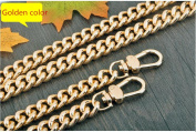 Metal lighter shape Chain 23 inch Long Gold Replacement Purse Chains strap for Handbag Bag Wallet width 13mm