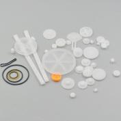 Fujiyuan 1 package Plastic Gear model rack pulley belt Worm Single double Rod teeth Smart Car Robot