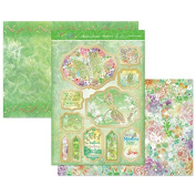 Hunkydory Flutterbye Rainbow Glistening Green Topper Set Card Kit
