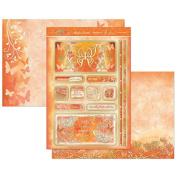 Hunkydory Flutterbye Rainbow Orange Skies Topper Set Card Kit