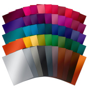 Hunkydory 50 Shades of Mirri Darker 50 Different Colour Sheets in Rich 270gsm Mirror Board