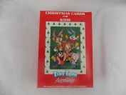 12 vintage tiny toon christmas cards for kids