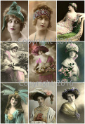 Vintage Women Photo Collage #108 Collage Sheet