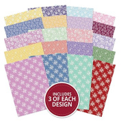 Hunkydory Adorable Scorable Lace Bouquet Card Block Collection A4 Sheets 350gsm