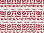 Red Nordic Snowflake Tissue Paper for Gift Wrapping, 20 Sheets