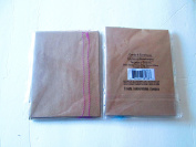Brown with assorted colour stitching Designer blank cards & matching envelopes 7 pkgs of 3 sets=21 sets