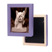 Hunputa 15cm ×15cm Square Picture Frame Home Fun Wood Photo Frame Collage Photo Frame for Wall