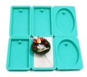 【Ever garden】 Rectangular Oval Through Hole Type Silicone Mould / Aroma High Stone Gypsum / Handmade Soap / Resin / Resin Clay / Punching Die