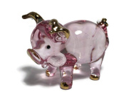 TINY CRYSTAL PIG HAND BLOWN CLEAR GLASS ART PIG FIGURINE ANIMALS GLASS BLOWN FBA