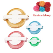 Tuliptown 4 Sizes Maker Fluff Ball Pompom Needle Knitting Weaver Wool Tool DIY Craft Set