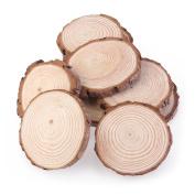 NUOLUX 10pcs 7-9CM Wood Log Slices Discs for DIY Crafts Wedding Centrepieces