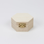 7.6cm Hexagon Wood Box