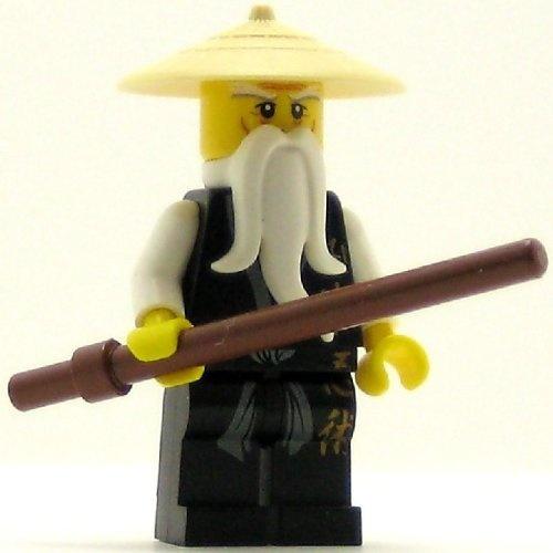 Lego ninjago minifig sensei wu black outfit best price ebay - Ninjago sensei wu ...