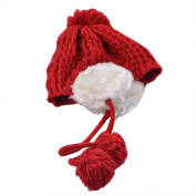 Mosunx(TM) Fashion Keep Warm Winter Hats Knitted Wool Hemming Hat