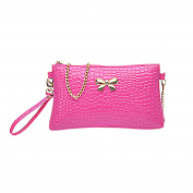 Women Fashion PU Leather Shoulder Bag Crocodile Grain Clutch Handbags