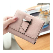HeySun Women PU Leather Fashion Mini Wallet with Card Case Trifold Change Pocket Purse