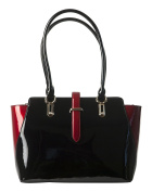 BRAVO Handbags, Leather, Julia Black/Red