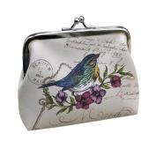 UPLOTER Women Elegant Retro Birds Little Wallet Purse Clutch Handbag