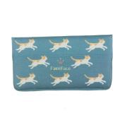 Women Girl's Printing Canvas Long Wallet Clutch Bag Cellphone Card Holder Purse