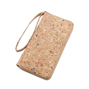 Lam Gallery Vegan Cork Purse for Womens Long Wallet Clutch Handbags - Eco Friendly