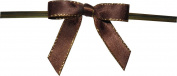 Small Brown Twist Tie Bows with Gold Edges- 250pc