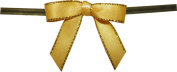 Small Yellow Twist Tie Bows with Gold Edges- 250pc