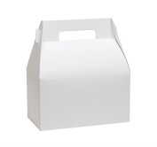 White Gable Boxes, X-Large Size 9x5x10 Gloss White Set of 6