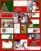 CHRISTMAS 100 PEEL 'N STICK GIFT TAGS