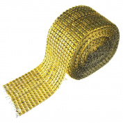 Square Studs Diamond Mesh Wrap Ribbon, 12cm , 10 Yards