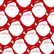 Red Santa Design Christmas Wrapping Paper - 1.8m Roll
