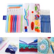 Crochet hook set VORCOOL 16pcs Soft Grip Handle Aluminium Crochet Hooks Knitting Needles