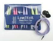 Love2Knit Sharp Short Tip Interchangeable Knitting Needles