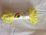Lemon Yellow Scovill Dritz Needlepoint 100% Pure Virgin Wool Yarn - 40 Yards