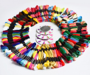 Embroidery Floss Mega Pack 150 Skeins , Approx. 8m per skein Various Colours , 100% mercerized Cotton