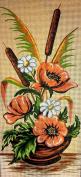 "Needlepoint Kit ""Ikebana"" 7""x15.7"" (18x40cm.) printed canvas 055"