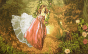 """Needlepoint Kit """"The swing"""" 19.7""""x11.8"""" (50x30cm) printed canvas 466"""