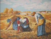 THE GLEANERS BY MILLET NEEDLEPOINT CANVAS FROM ROYAL PARIS #142.92 CANVAS ONLY