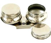 Oil Palette Cup Double Dipper Painting Art Pallete Clip Pot Supplies Tools with Lid