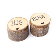 Home-organiser Tech Wooden Rustic Wedding Ring Bearer Box